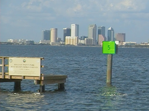 Last night's dinner on Tampa Bay: good food, a Po Boy shrimp sandy, and a view....