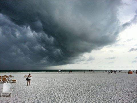If you come to Florida this summer and are at the Beach in the PM, you will see this.
