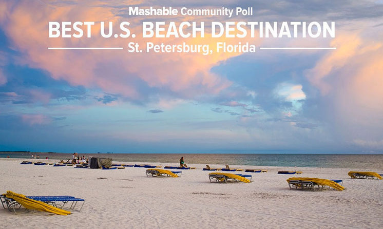 The local  St Petersburg Beach where I live just got Best Beach Destination in the U.S.A.