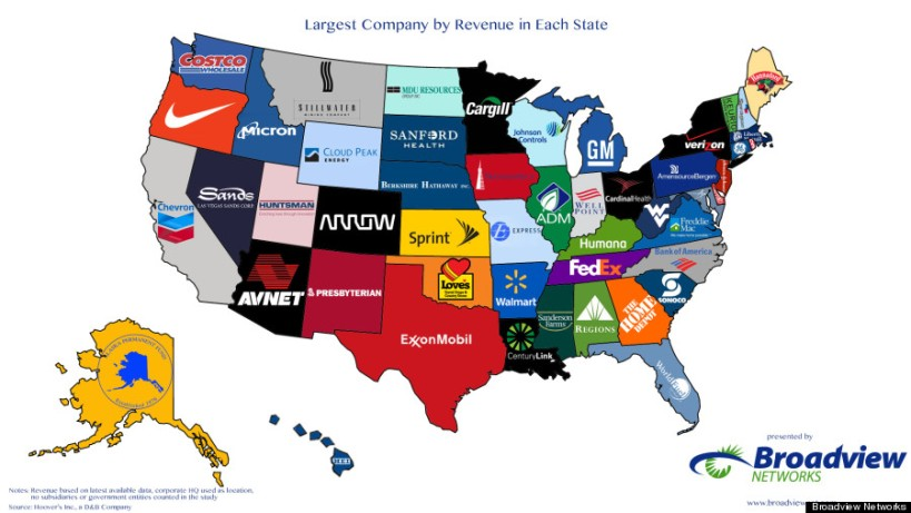 KNOW WHY THE GOPS HATE OBAMACARE? CHECK THIS PHOTO OUT OF LARGE CO.S IN EACH STATE. SEE KY, OH, AND INDIANA.  TEA PARTY STATES.